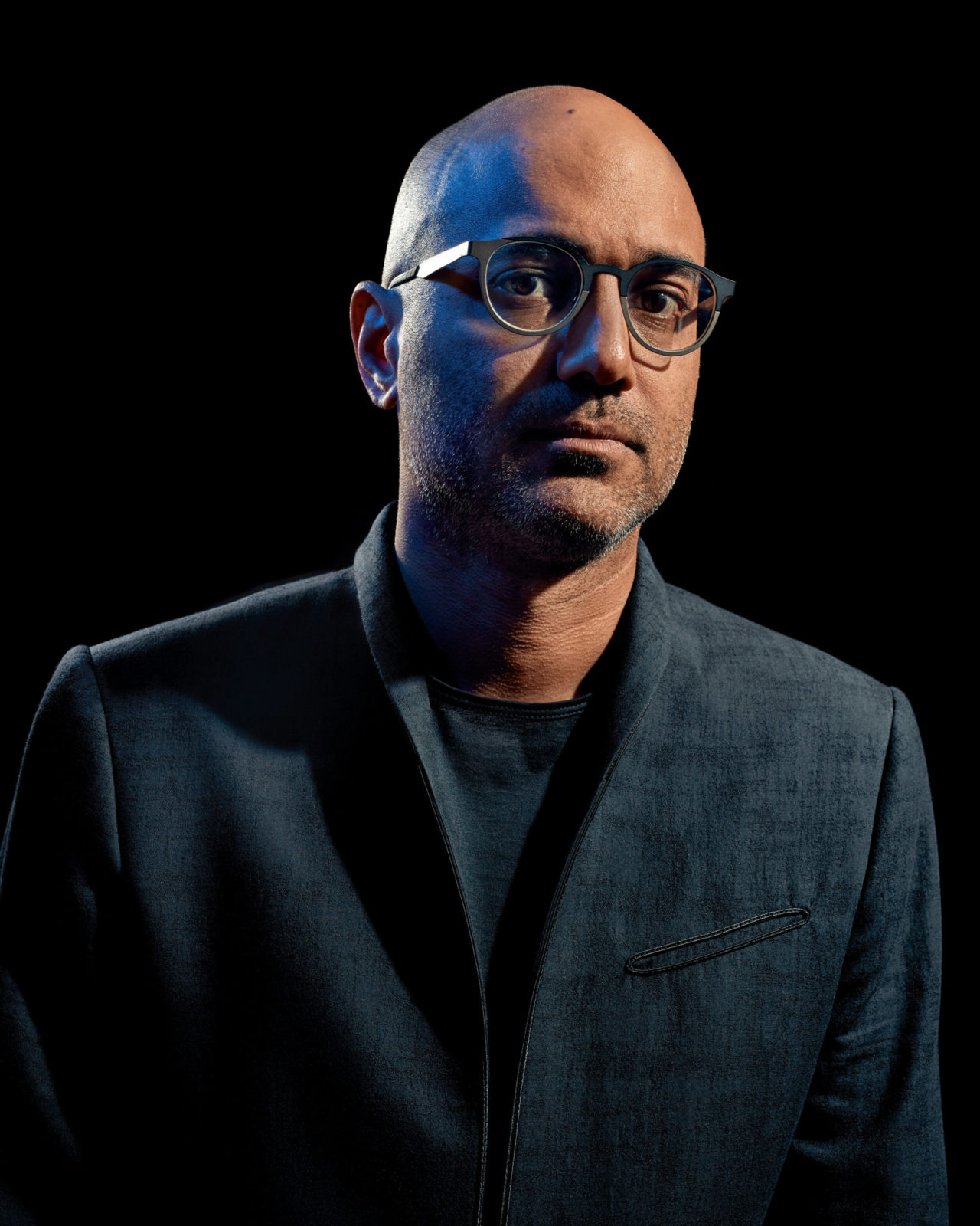 New York, NY - August 7th, 2017: Ayad Akhtar posing for a portrait in New York.