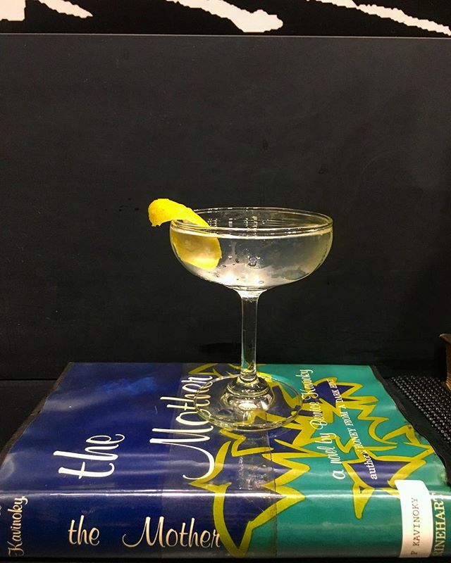 Cocktail on book