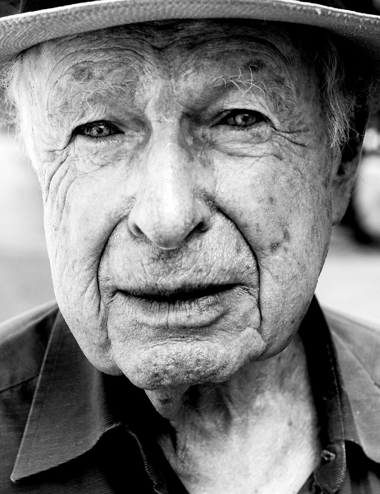 Peter Brook, Photo Credit to Marian Adreani, The Center for Fiction, Brooklyn, NY