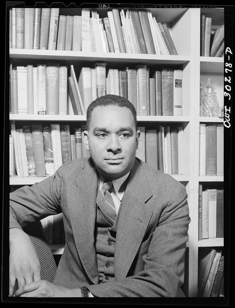 Richard Wright in his study by Gordon Parks courtesy Library of Congress - Zach Cihlar