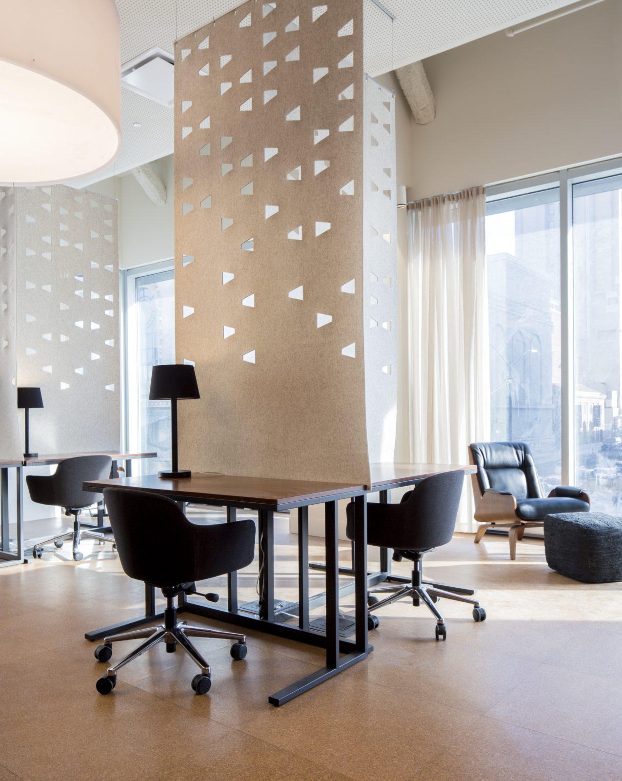Writer's Studio partitioned desks