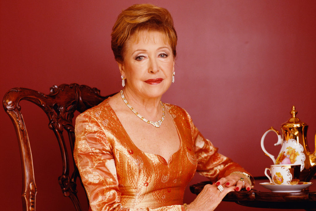 Novelist Mary Higgins Clark in Golden Gown